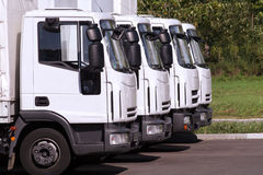 Trucks in row royalty free stock photography