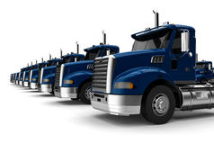 Trucks row Royalty Free Stock Images