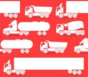 Trucks seamless background Stock Photography