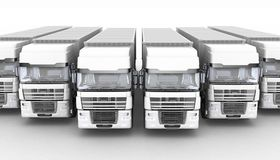 Trucks with semi-trailer Royalty Free Stock Photo