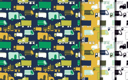 Trucks set pattern Stock Images