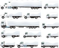 Trucks set Stock Photography