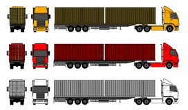 Trucks with shipping containers Royalty Free Stock Image