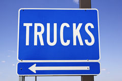 Trucks sign Royalty Free Stock Photos