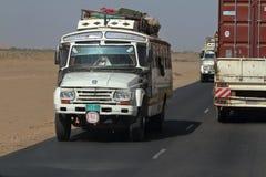 Trucks in Sudan at the Sahara crossing Royalty Free Stock Photo