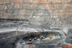 Trucks in Super Pit gold mine Australia Stock Image