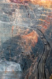 Trucks in Super Pit gold mine Australia Stock Photos