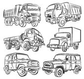 Trucks and SUVs. Royalty Free Stock Image