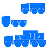 Trucks symbols Royalty Free Stock Photography