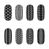 Trucks tire tracks. Set os truck tire tracks  on white background Stock Photography