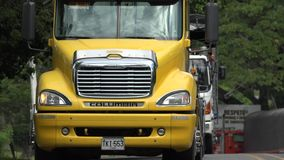Trucks, Tractor Trailer, Cargo, Delivery stock video footage