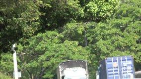Trucks, Tractor Trailer, Cargo, Delivery stock video