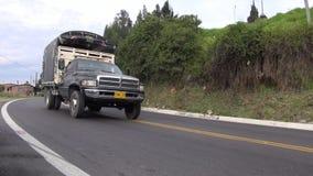 Trucks, Tractor Trailer, Cargo, Flatbed. Stock video of tractor trailers stock video
