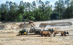 Trucks, tractors, excavators Stock Photography