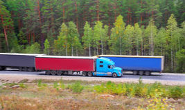Trucks transporting cargo Royalty Free Stock Image