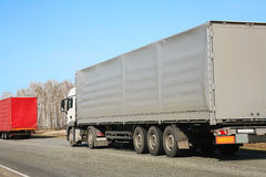 Trucks transporting freight Royalty Free Stock Photo