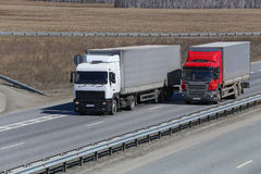 Trucks transporting freight Royalty Free Stock Photography