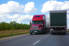 Trucks transporting freight Royalty Free Stock Image