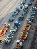 Trucks waiting for cargo Stock Photography