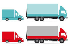 Trucks and vans. An illustration of trucks and vans Royalty Free Stock Photo