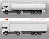 Trucks vector mock-up. Royalty Free Stock Photo
