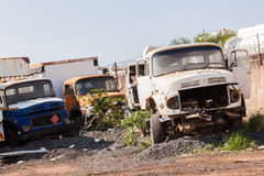 Trucks Vehicles Destroyed Abandoned Stock Photography