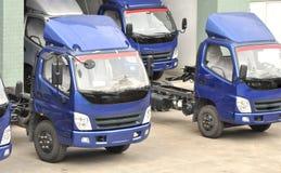 trucks in warehouse Royalty Free Stock Photos