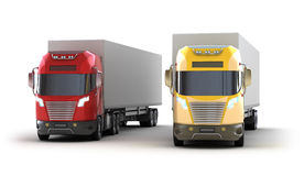 Trucks. on white Royalty Free Stock Image