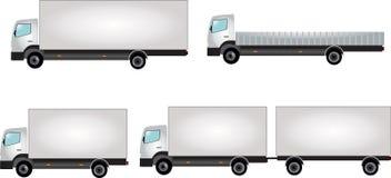trucks white Arkivfoto