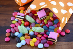 Truco del partido de Halloween del caramelo de la invitación Imágenes de archivo libres de regalías