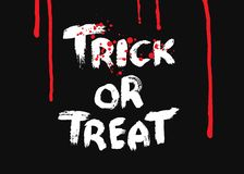 Truco o convite Elemento del diseño para Halloween fotografía de archivo libre de regalías