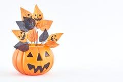 truco o invitación de las decoraciones del partido de Halloween foto de archivo libre de regalías