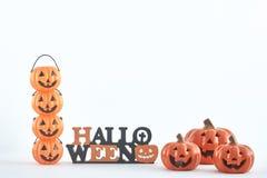 truco o invitación de las decoraciones del partido de Halloween imagen de archivo libre de regalías