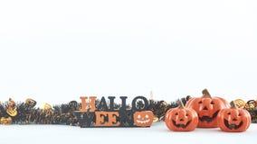 truco o invitación de las decoraciones del partido de Halloween imágenes de archivo libres de regalías