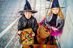 Truco o invitación del caramelo Fotografía de archivo libre de regalías