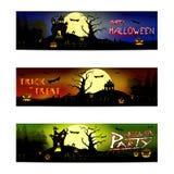 Truco o invitación del feliz Halloween stock de ilustración
