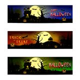 Truco o invitación del feliz Halloween ilustración del vector