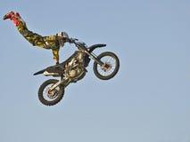 trucos de la motocicleta Imagen de archivo libre de regalías