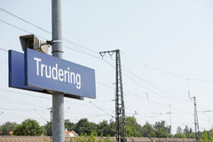Trudering station Royalty Free Stock Photography