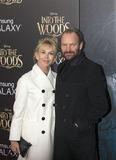 Trudie Styler et Sting Images stock