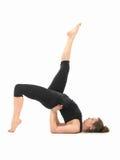 Trudna joga postury demonstracja zdjęcia stock
