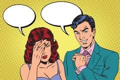 Trudny dialog migrena ilustracja wektor