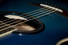 True Blue Acoustic Guitar. This is a pretty blue yamaha acoustic guitar stock image