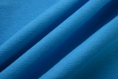 True blue cloth made by cotton fiber Stock Image