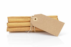 True ceylon cinnamon sticks tied with twine Stock Photo