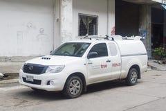 True Corporation运输业务卡车  免版税库存照片