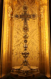 True Cross century reliquary inside the Cathedral of Palma de Ma Stock Images