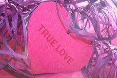 True förälskelsehjärta Arkivbilder
