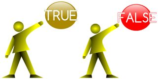 True or false Stock Photo