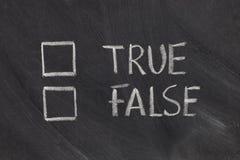 True or false checkboxes royalty free stock photos